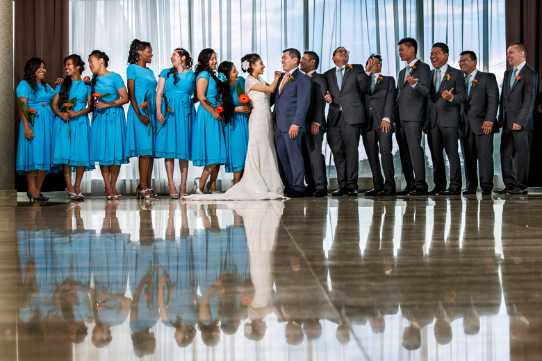Bridal Party Portrait: 13-th Place by Brian Di Croce (Brian Di Croce Photography)