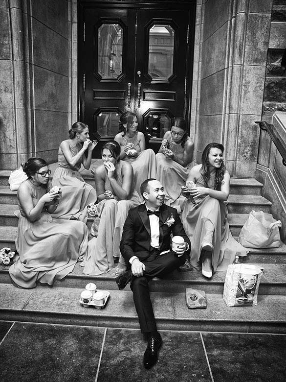 Bridal Party Portrait: 14-th Place by Alexandre Paskanoi (Alt Wedding Studio)
