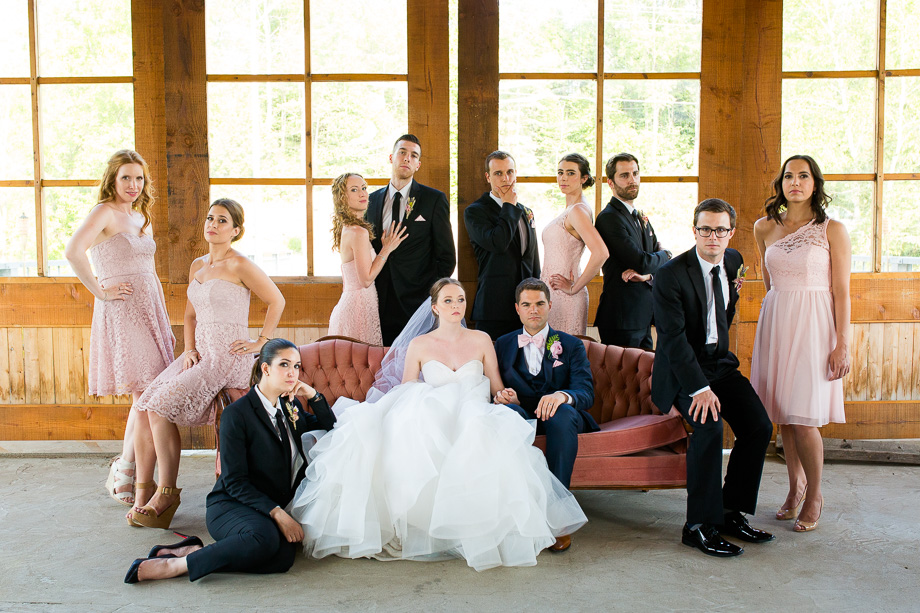 Bridal Party Portrait: 15-th Place by Sophie Asselin (Sophie Asselin photographe)