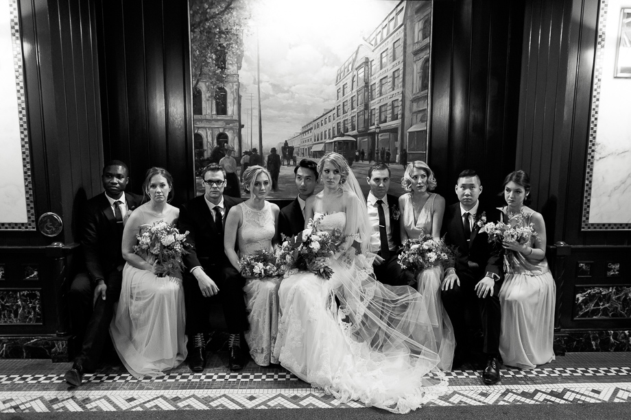 Bridal Party Portrait: 8-th Place by Sophie Asselin (Sophie Asselin photographe)