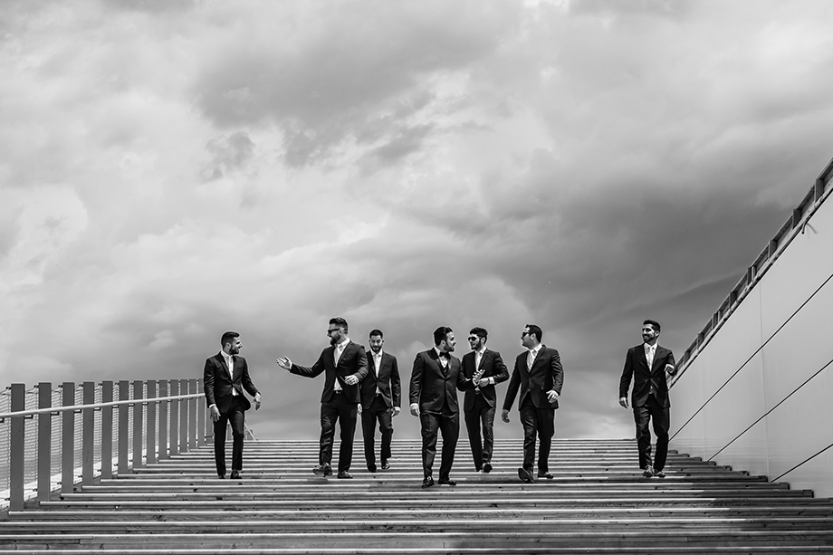 Bridal Party Portrait: 12-th Place by Rabih Madi (Madi Photography)