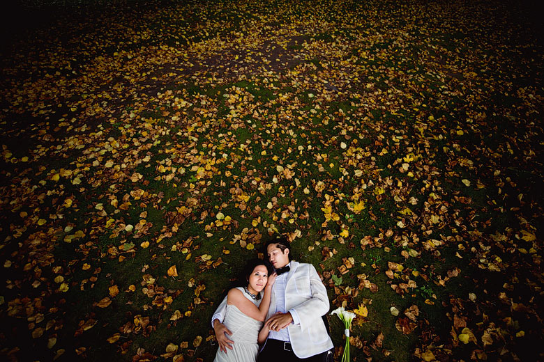 Bride and Groom Portrait: 4-th Place by Leslie Biggar (Sakura Photography)